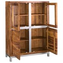 Coast to Coast Imports Kingston Contemporary Four Door Tall Cabinet with Metal Accents