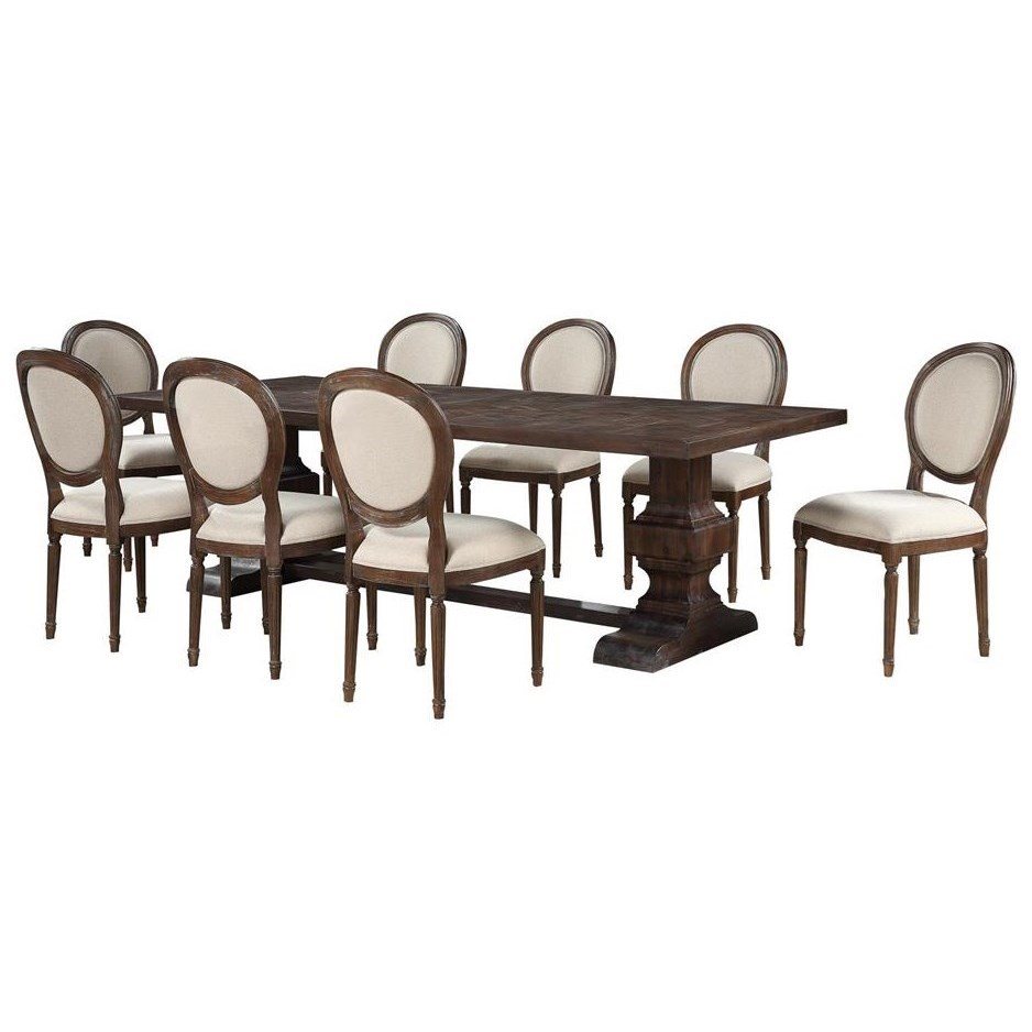 Marquette 9-Piece Table and Chair Set by Coast to Coast Imports at Johnny Janosik