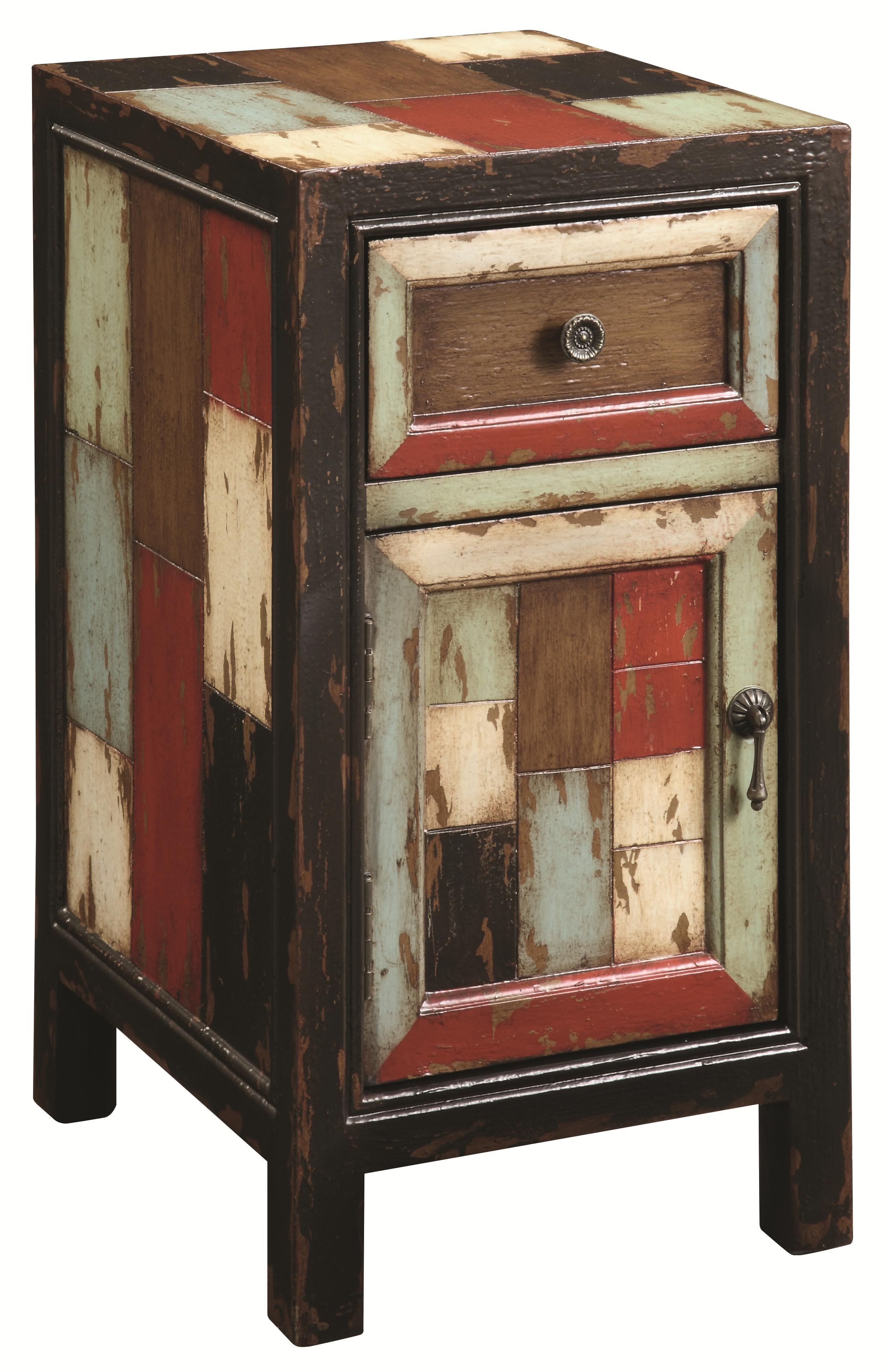 Coast to Coast Imports Occasional Accents Rustic Chairside Cabinet with Drawer - Item Number: 39622