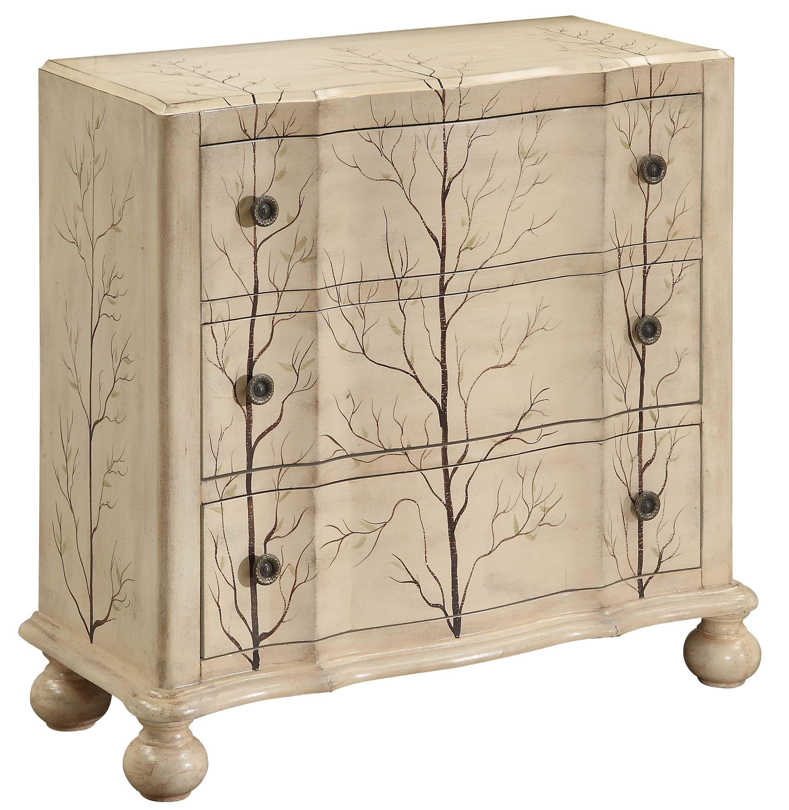 Coast to Coast Imports Occasional Accents Three-Drawer Chest with Hand Painted Details - Item Number: 43316