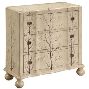 Coast to Coast Imports Occasional Accents Three-Drawer Chest with Hand Painted Details
