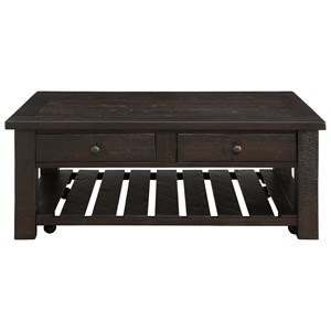 Coast to Coast Imports Raleigh Two Drawer Cocktail Table