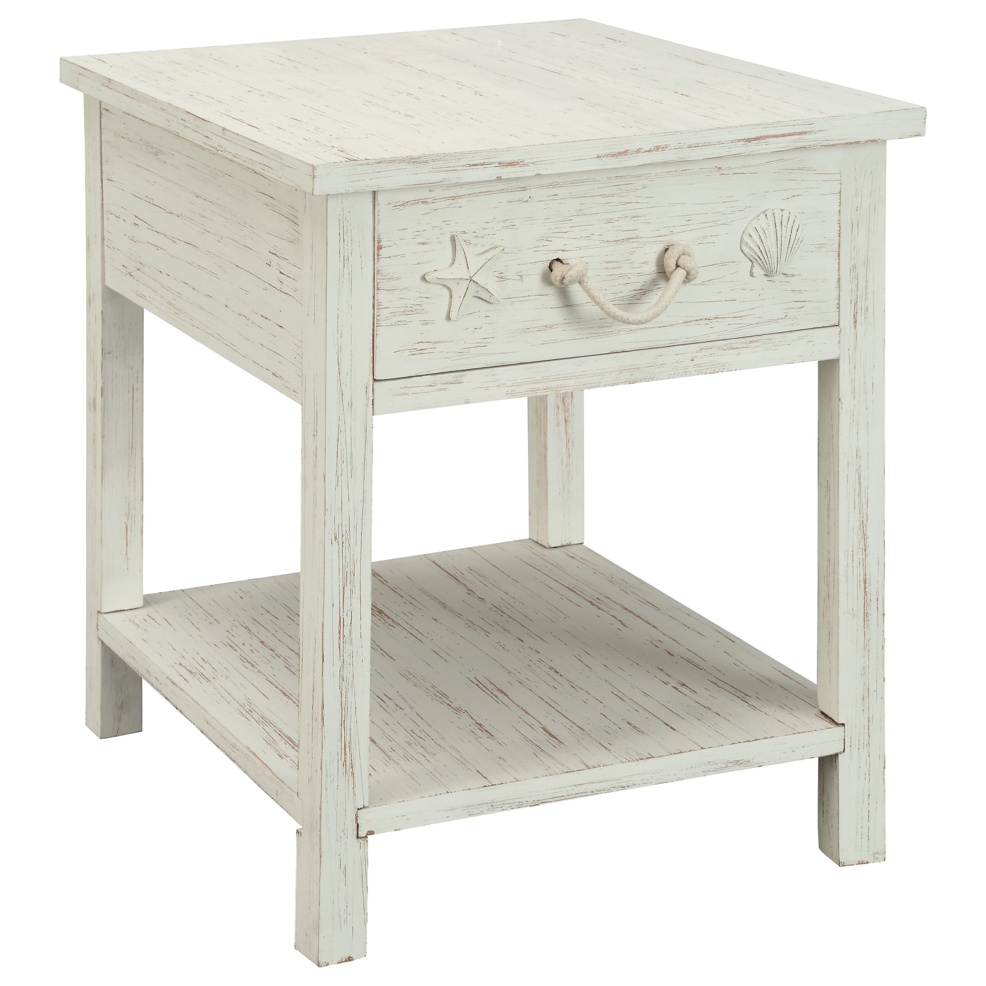 Coast To Coast Imports Sanibel Sanibel One Drawer End Table   Item Number:  91740