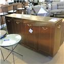 Coast to Coast Imports Clearance Golden Metal Server - Item Number: 116919395