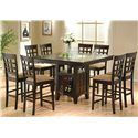 Coaster Mix & Match 5 Piece Counter Height Dining Set