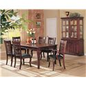 Coaster Newhouse 7 Piece Dining Set - Shown with Buffet/Hutch