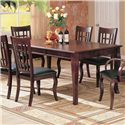 Coaster Newhouse Rectangular Dining Table - 100500 - Shown with leaf