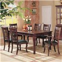 Coaster Newhouse Rectangular Dining Table - 100500 - Shown as part of table set with leaf