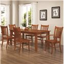 Coaster Marbrisa 7 Piece Dining Set - Item Number: 100621+4X100622+2X100623