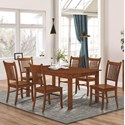 Coaster Marbrisa 7 Piece Dining Set - Item Number: 100621+6x100622