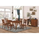 Coaster Marbrisa Rectangular Leg Dining Table