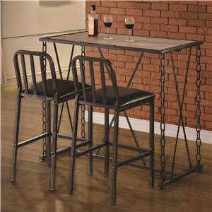 Coaster 10069 3 Pc Pub Table Set