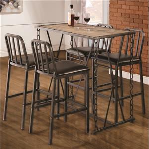 Coaster 10069 5 Pc Pub Table Dining Set