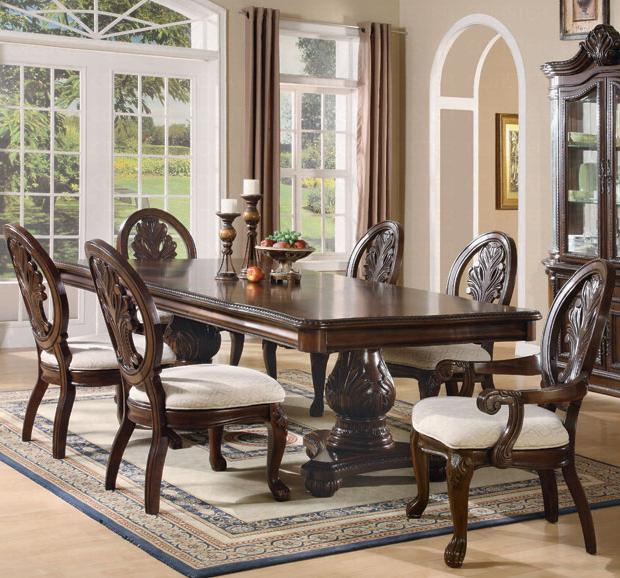 Coaster Tabitha 7 Piece Dining Set - Item Number: 101037+2x033+4x032