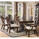 ( Rooms Collection # 2 ) Tabitha 7 Piece Dining Set - Item Number: 101037+2x033+4x032