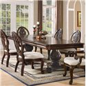 Coaster Tabitha Traditional Rectangular Double Pedestal Dining Table