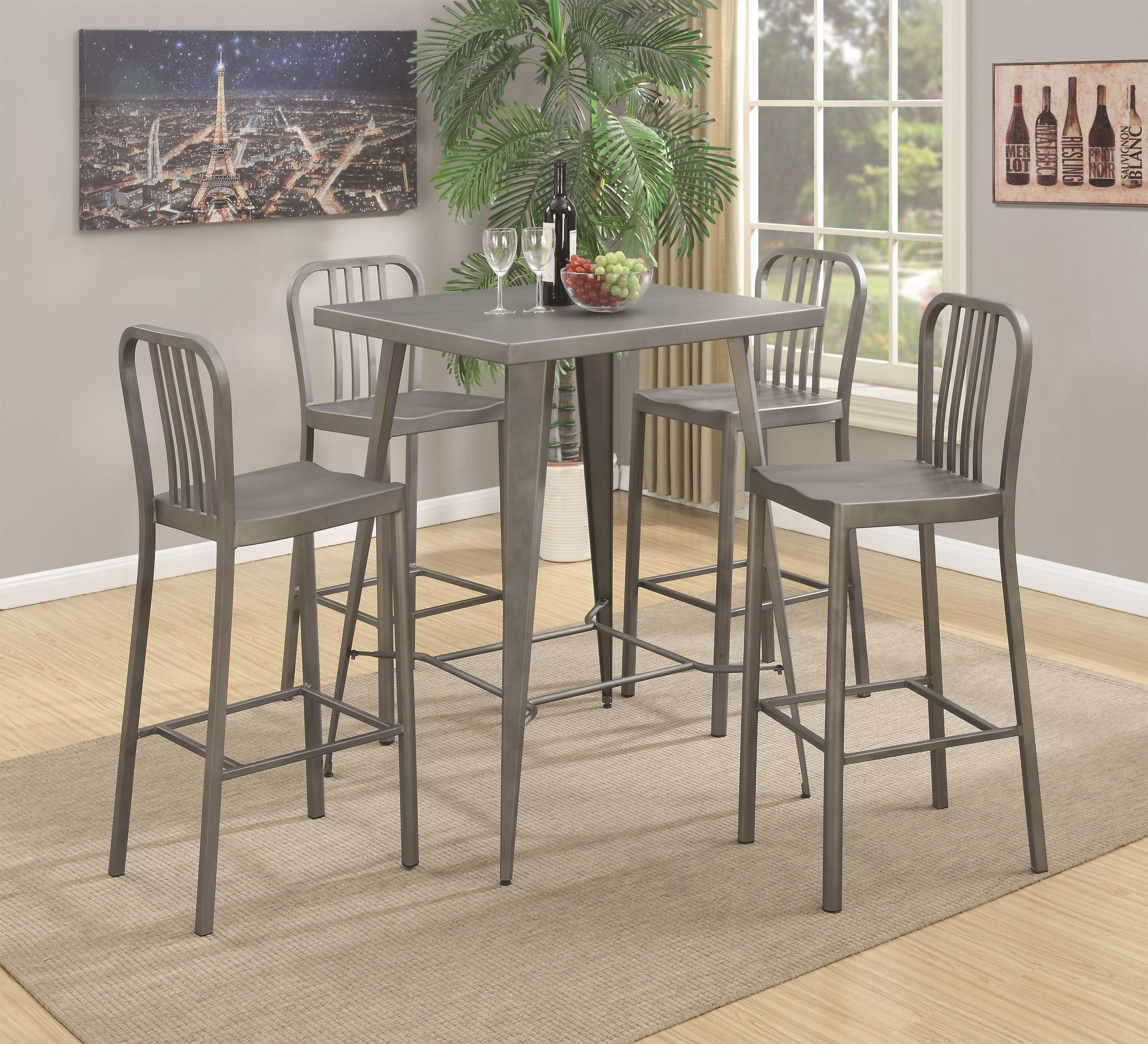 Coaster 10593 5 Piece Bar Table Set - Item Number: 105938+4x105939