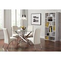 Coaster Beckham Contemporary Round Dining Table with Glass Top