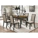 Coaster Clarksville Transitional Dining Chair with Upholstered Seat and Back
