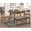 Fine Furniture 1080 Table and Chair Set with Bench - Item Number: 108080-S6