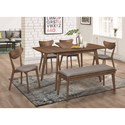 Coaster 1080 Mid-Century Modern Dining Table with Butterfly Leaf