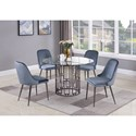 Coaster Bells Contemporary Round Dining Table with Glass Top