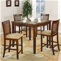 Coaster Normandie 5 Piece Counter Height Set - Item Number: 150154
