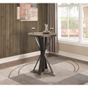 Coaster 1820 Industrial Wood and Metal Bar Height Pub Table