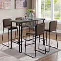 Coaster 18213 5 Pc Pub Dining Set - Item Number: 182131+182132