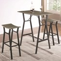 Coaster 182171 Industrial Table and Chair Set For Two