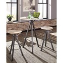 Coaster 18223 3 Piece Bar Table Set - Item Number: 182232+2x9