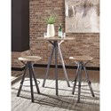 Coaster 18223 Bar Stool with Solid Mango Wood Top