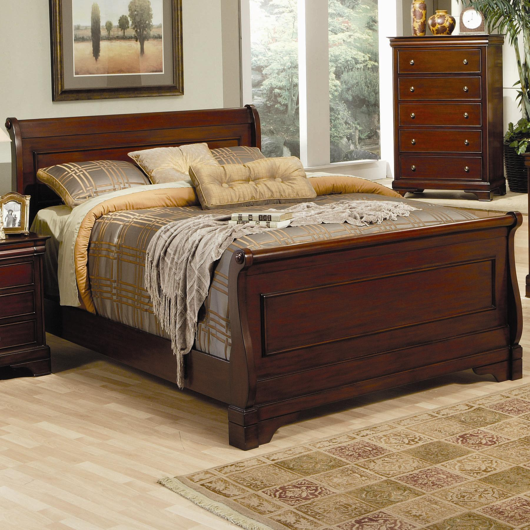 Coaster Versailles Queen Sleigh Bed - Item Number: 201481Q