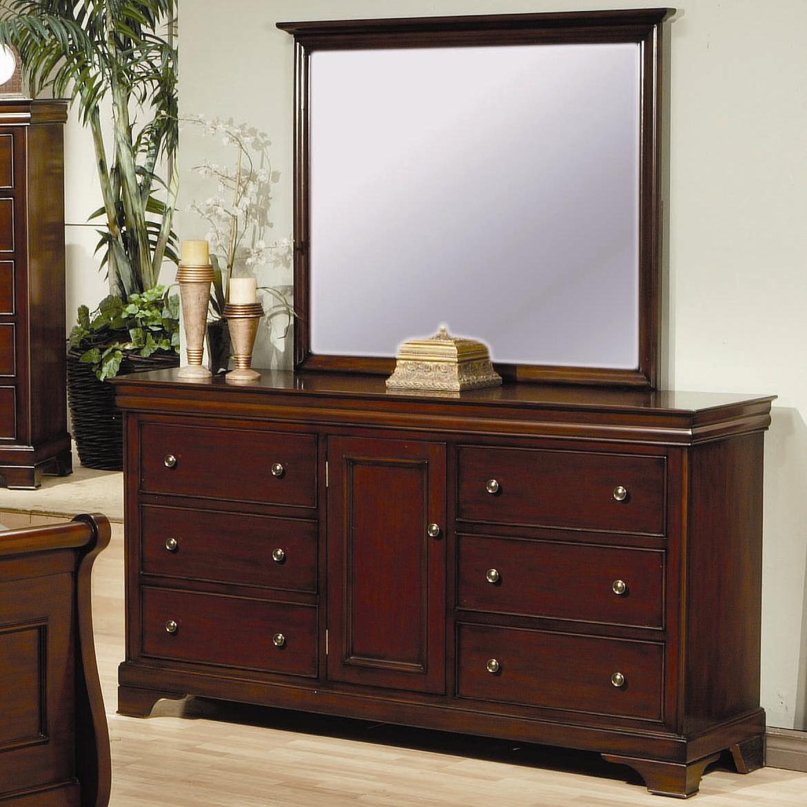 Coaster Versailles Dresser and Mirror - Item Number: 201486+484