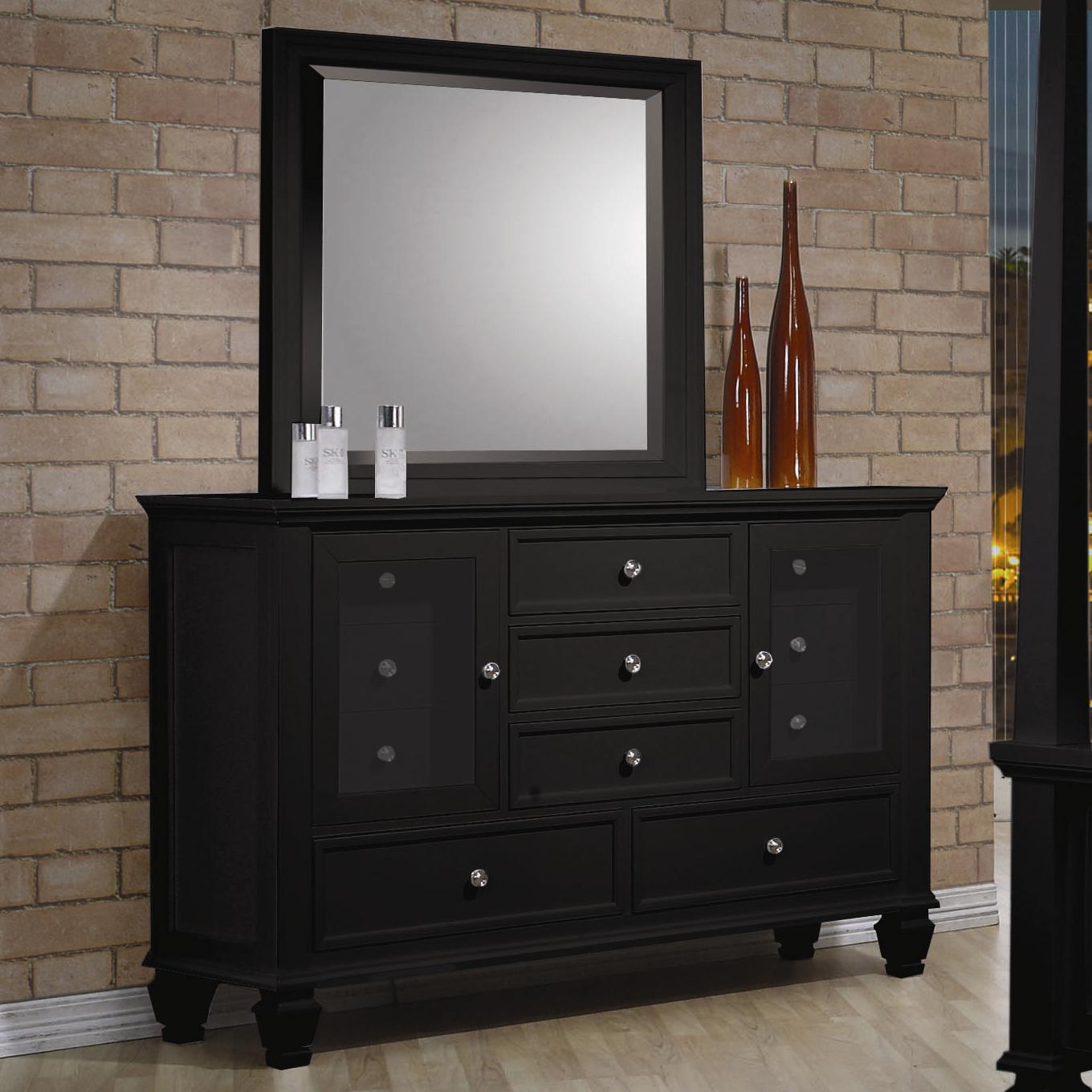 Sandy Beach Dresser and Mirror by Coaster at Dream Home Interiors