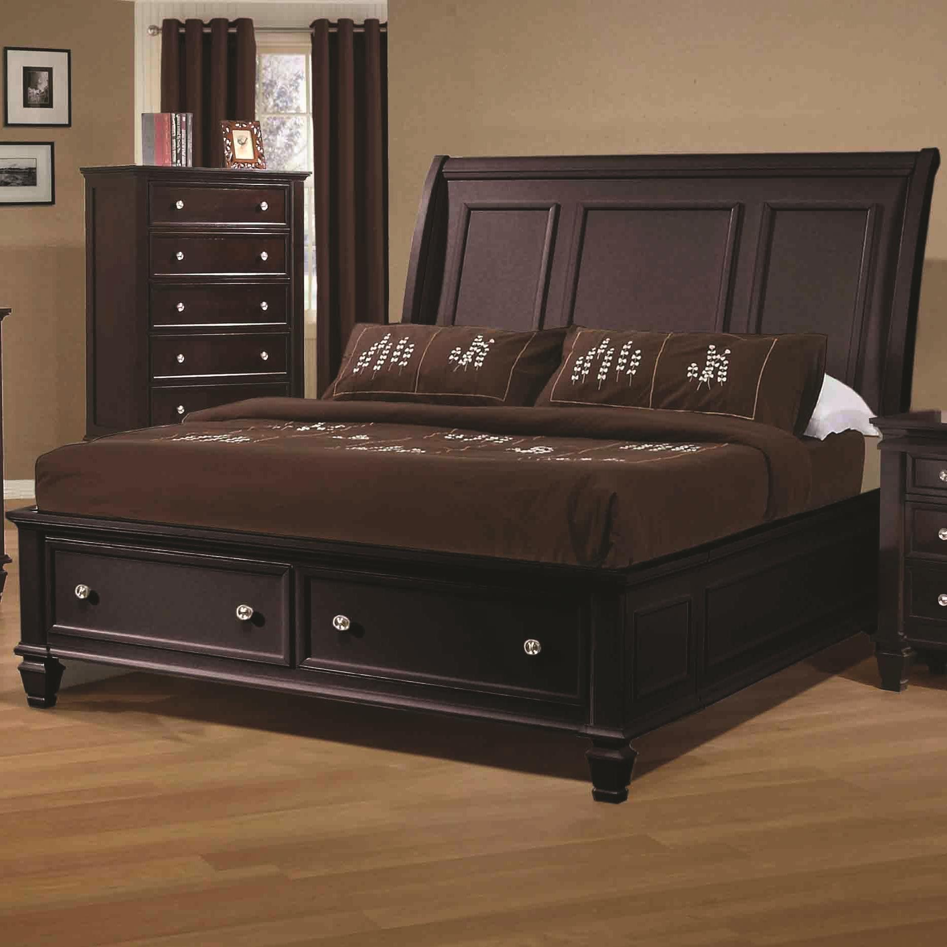 Coaster Sandy Beach King Sleigh Bed - Item Number: 201990KE