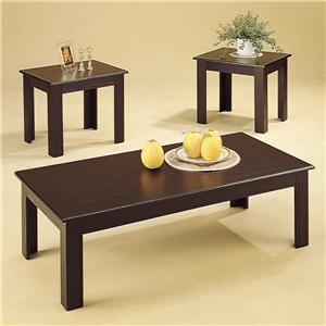 Coaster Occasional Table Sets 3 Piece Parquet Occasional Table Set