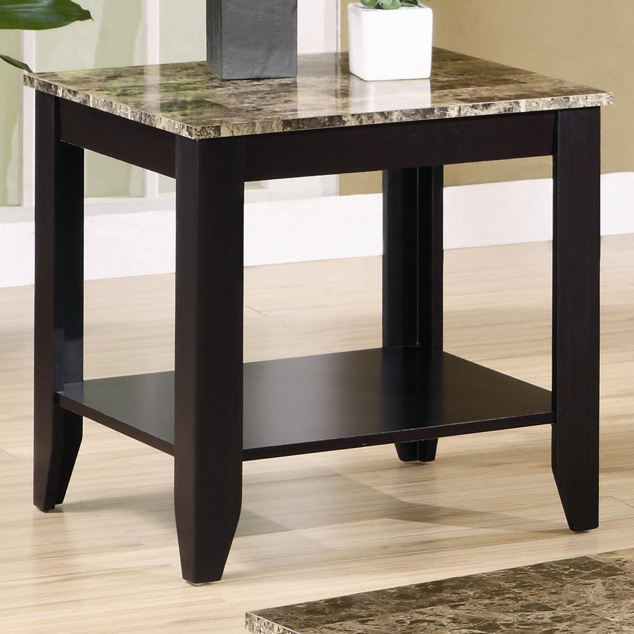 Marble Look Top Coffee Table: Coaster Occasional Table Sets 3 Piece Occasional Table Set