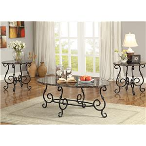 Coaster 3 Piece Occasional Table Sets 3 Piece Accent Table Set