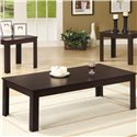 Coaster Occasional Table Sets Casual Three Piece Occasional Table Set - Coffee Table, Part of 3 Piece Set