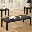 Coaster Occasional Table Sets Casual Three Piece Occasional Table Set - 700225 - Coffee Table, Part of 3 Piece Set
