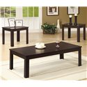Coaster Occasional Table Sets Casual Three Piece Occasional Table Set - 700225 - 3 Piece Table Set Shown in Dark Walnut Finish