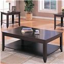 Coaster Occasional Table Sets Contemporary 3 Piece Occasional Table Set with Shelves - Coffee Table, Part of 3 Piece Set