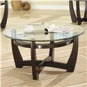 Coaster Occasional Table Sets Contemporary 3 Piece Occasional Table Set with Glass Tops - Coffee Table, Part of 3 Piece Set