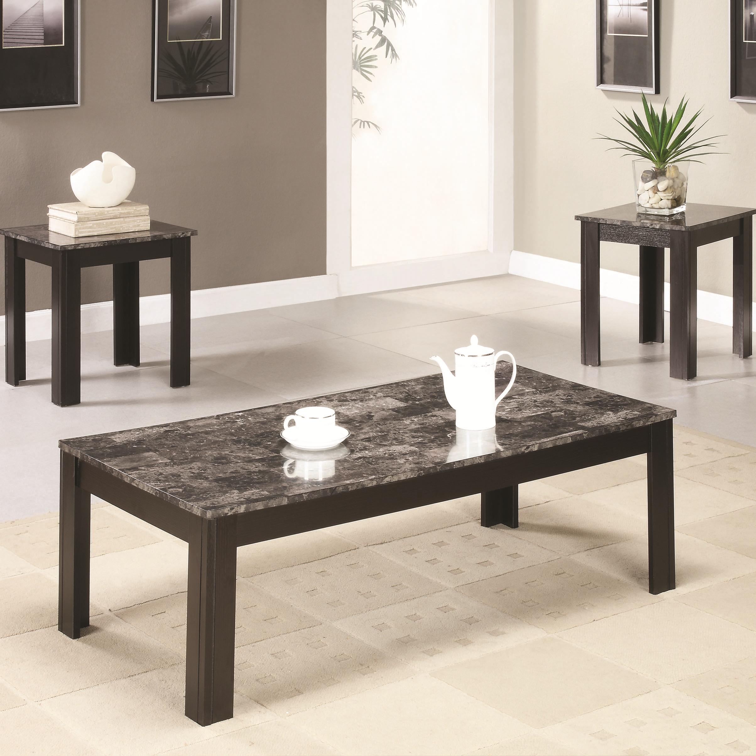Occasional Table Sets 3PC Occasional Group by Coaster at Standard Furniture