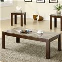 Coaster Occasional Table Sets Contemporary Cocktail and End Table Set - 700395 - Coffee Table, Part of 3 Piece Set