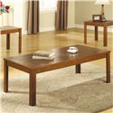Coaster Occasional Table Sets Casual 3 Piece Occasional Table Set with Pine Veneers - Coffee Table, Part of 3 Piece Set
