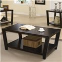 Coaster Occasional Table Sets Contemporary 3 Piece Occasional Table Set - Coffee Table, Part of 3 Piece Set