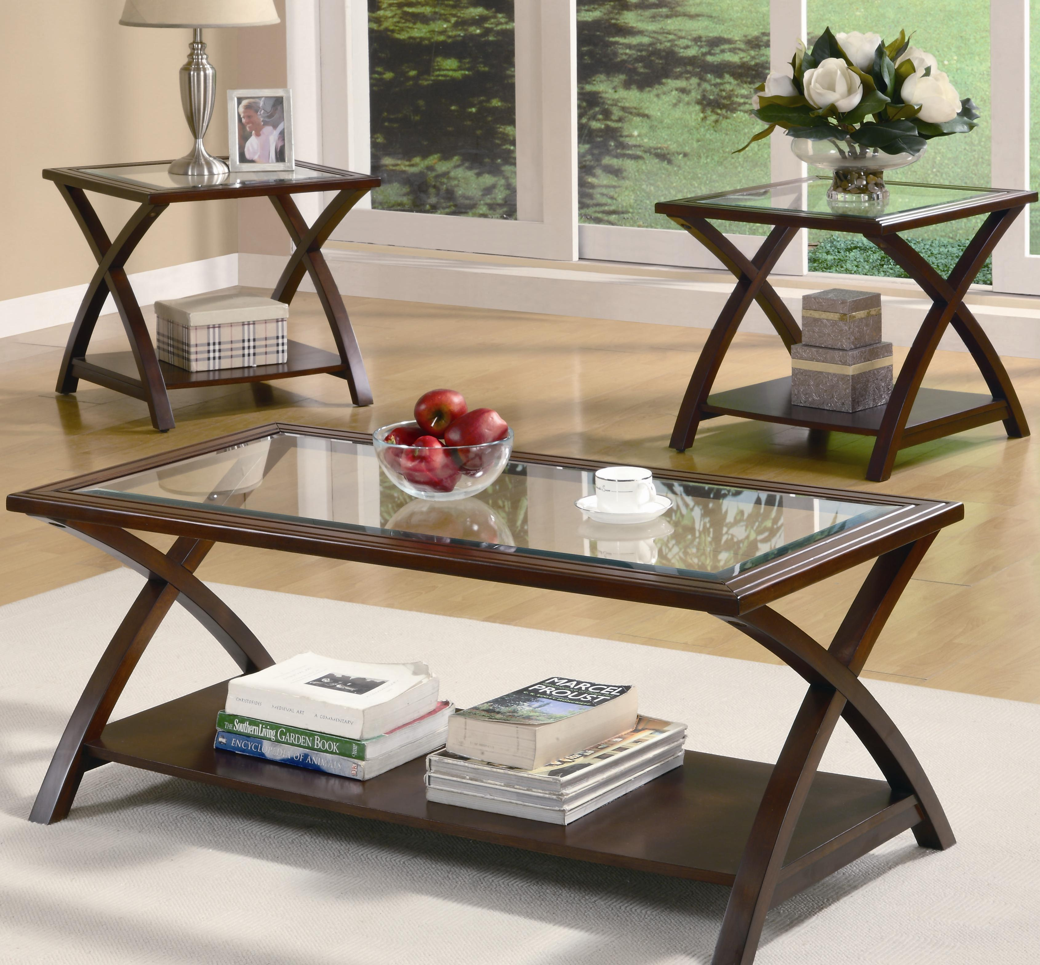 Coaster Occasional Table Sets 3 PC Occasional Group - Item Number 701527 & Coaster Occasional Table Sets Coffee Table and End Table Set | Value ...