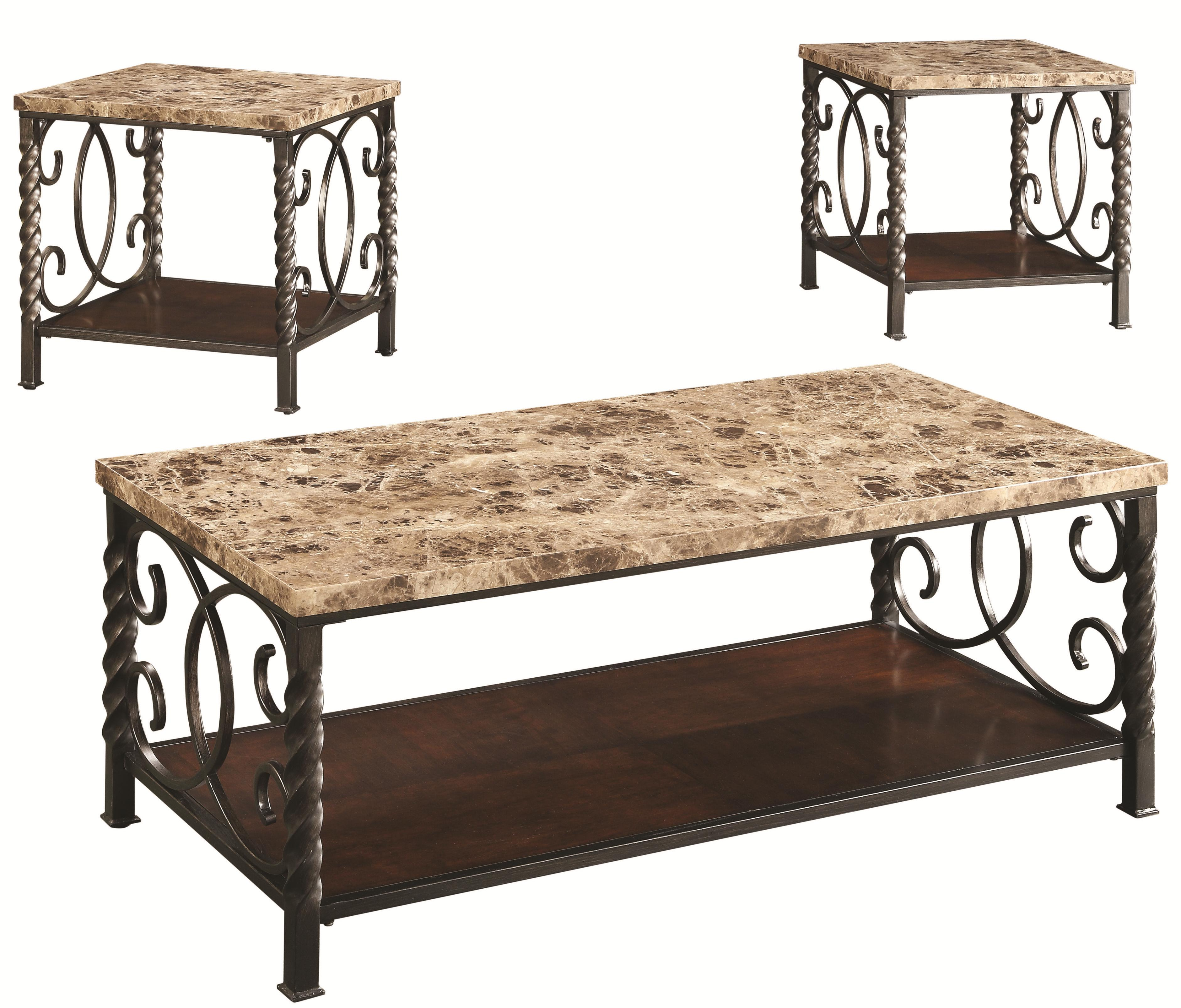Coaster Occasional Table Sets 3PC Occasional Set - Item Number: 701695